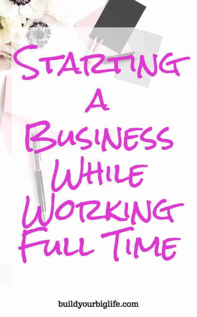 When you work full time and want to start your own business, you need to get creative with time management and productivity.