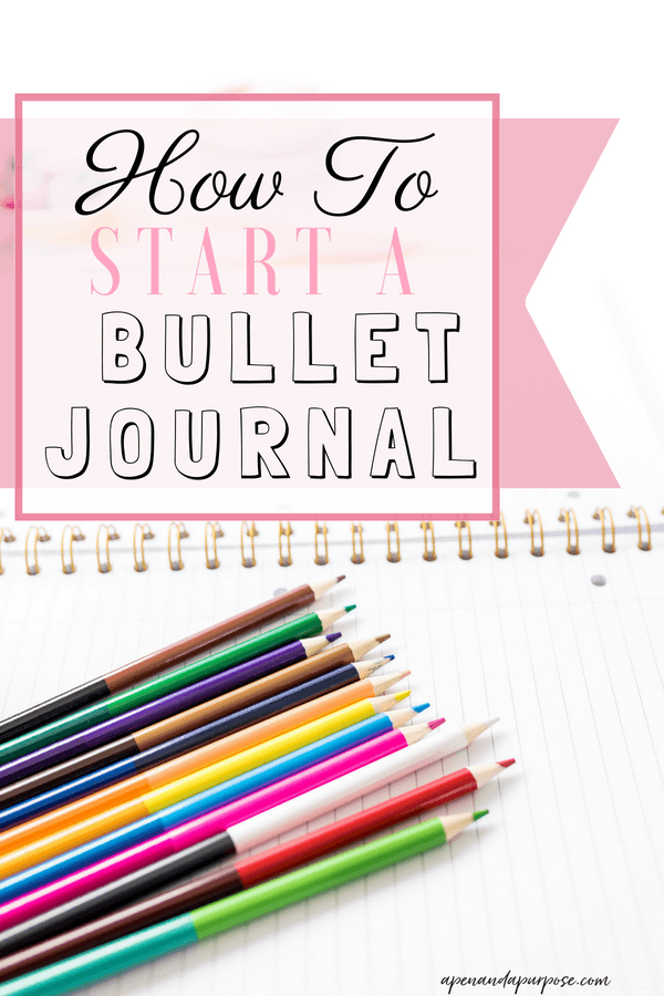 How to Start a bullet journal even if you're not artistic. Colored pencils and a notebook.