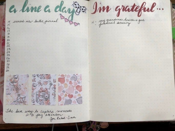 Collections and lists are an important part of a bullet journal.