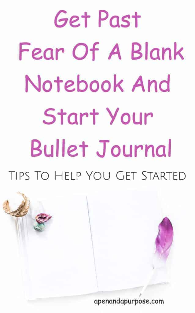 How To Get Past Fear Of Starting A Bullet Journal