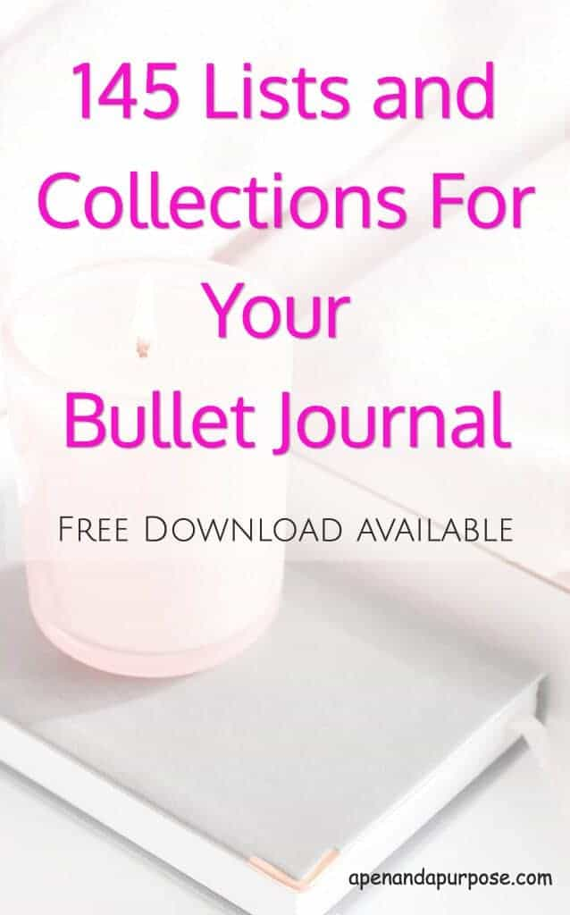 a candle and a journal: 145 lists and collections for your bullet journal