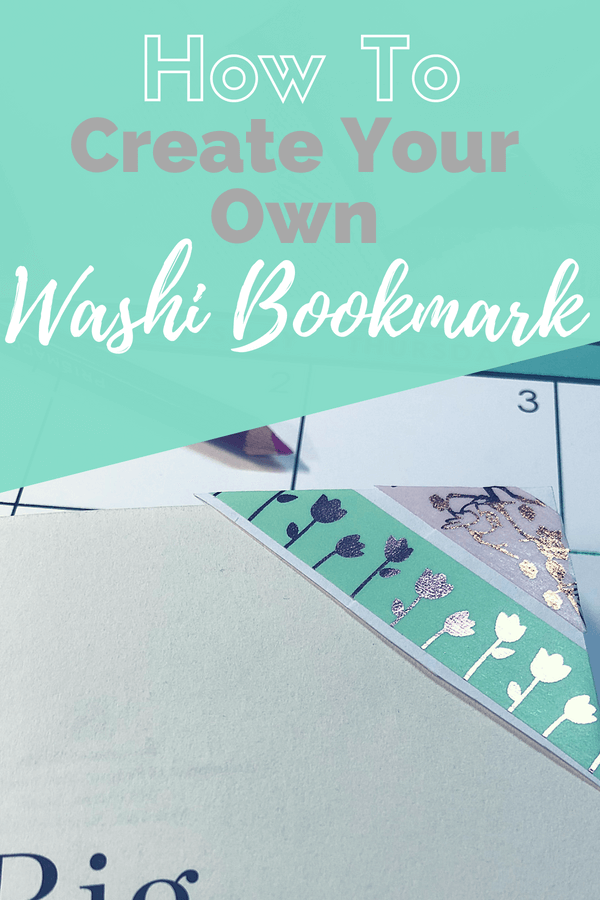 How to create your own washi bookmark. Picture of washi corner bookmark.