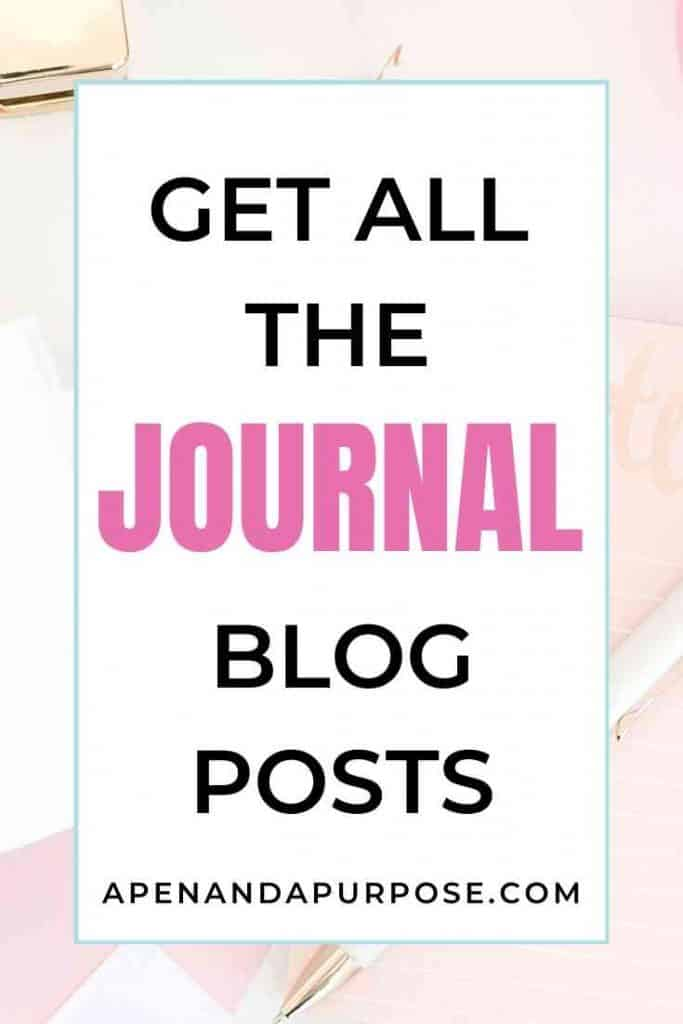 Get all of my journaling blog posts