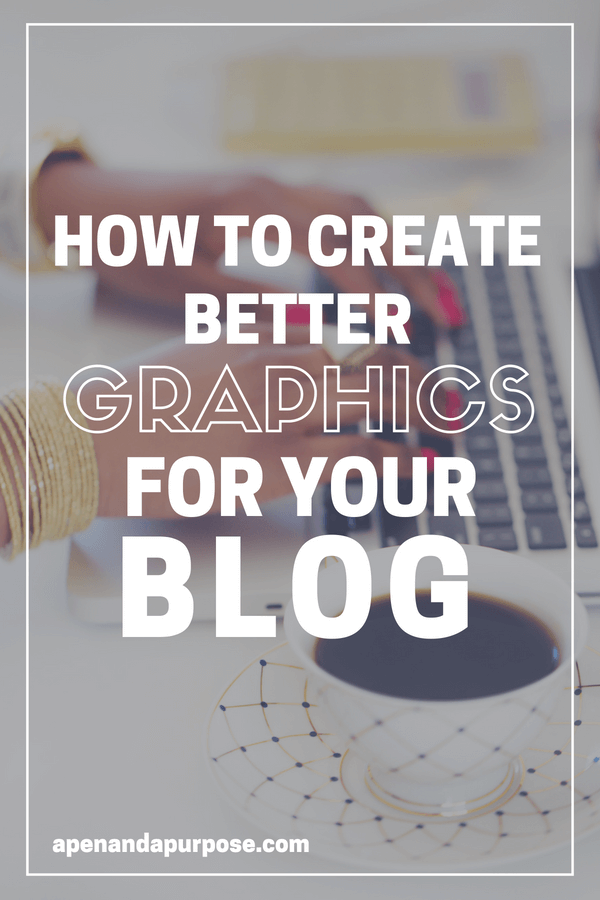 Woman typing on keyboard. How to create better graphics for your blog.