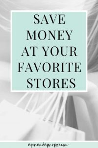 Woman shopping. Save money at your favorite stores