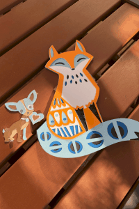 fox and chihuahua papercraft