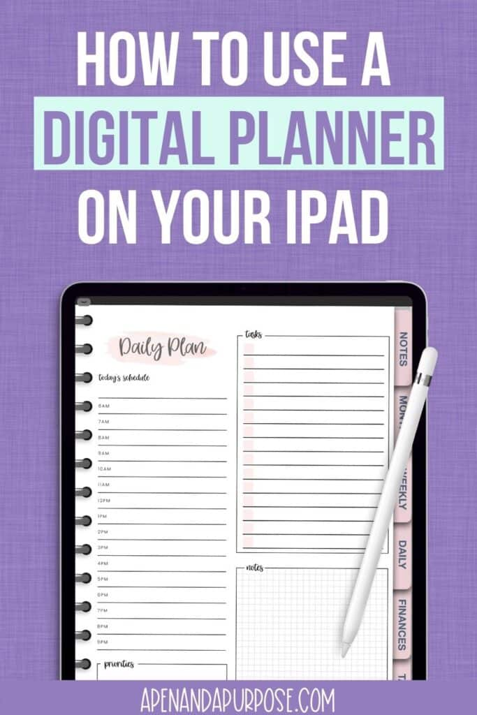 How to use a digital planner on your iPad