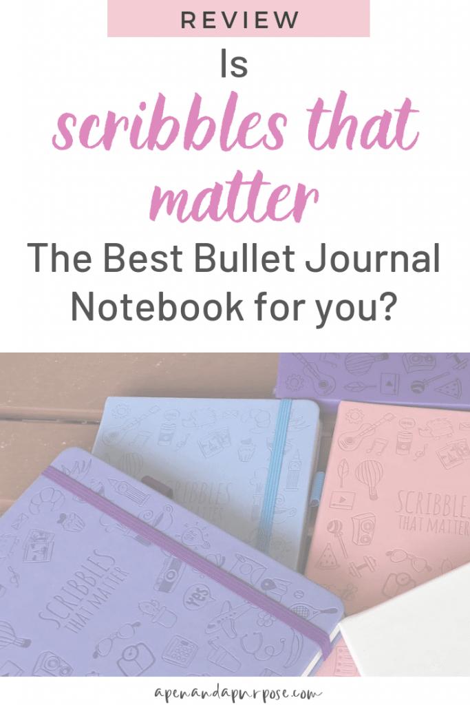 An honest review of Scribbles That Matters Bullet Journal Notebook