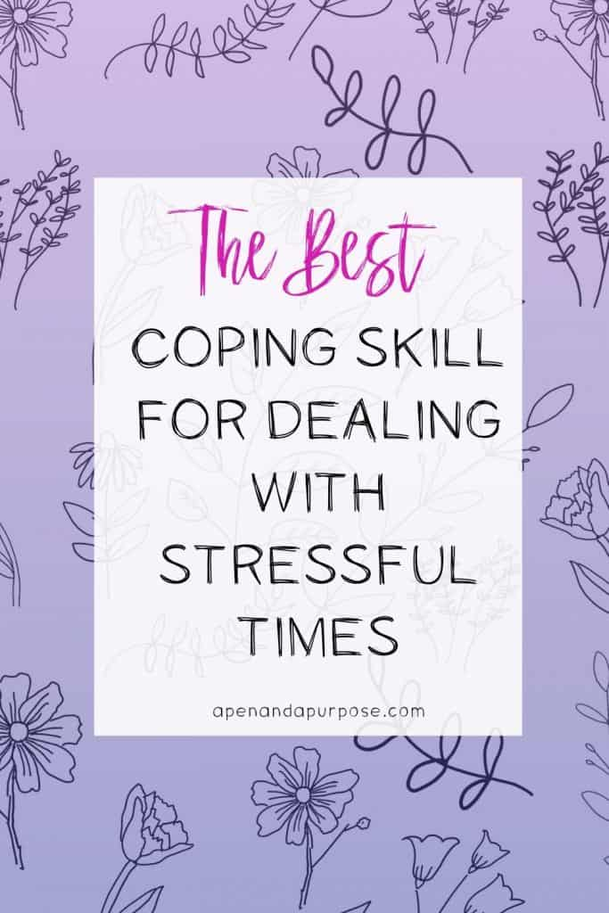 When you're experiencing a lot of worry and stress about things you can't do anything about, this coping skill helps you focus so you can feel better