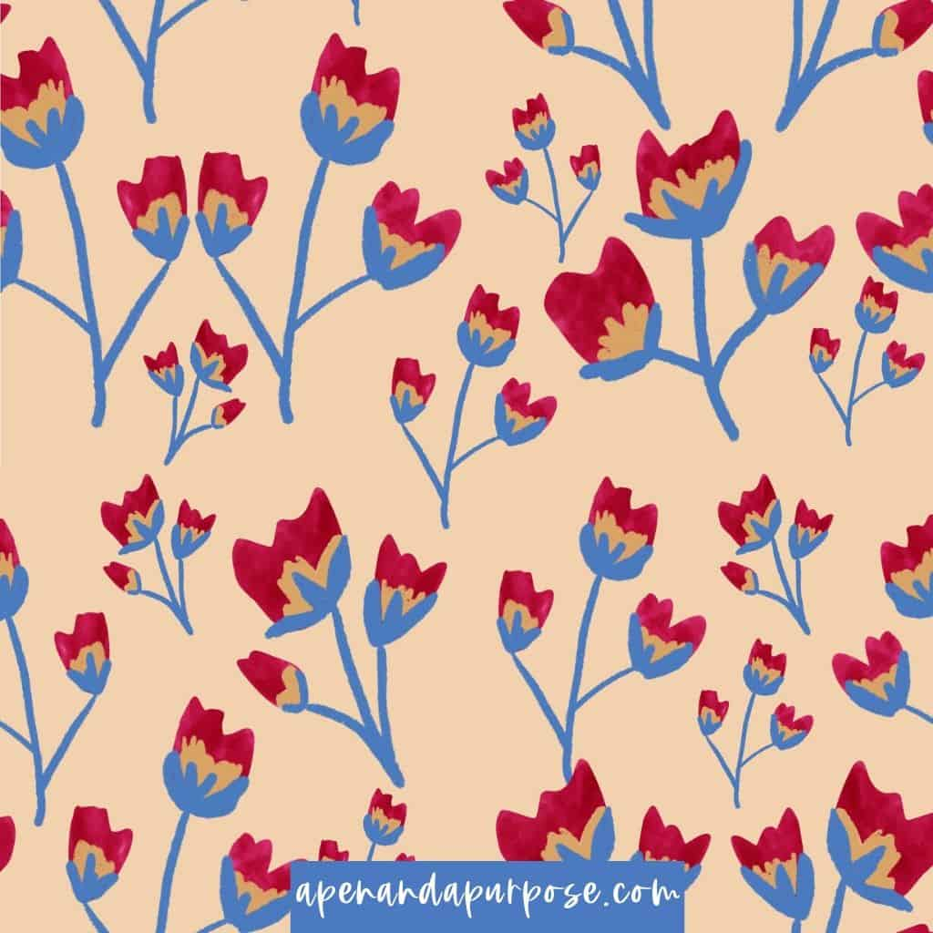 Seamless pattern made while taking course on skillshare