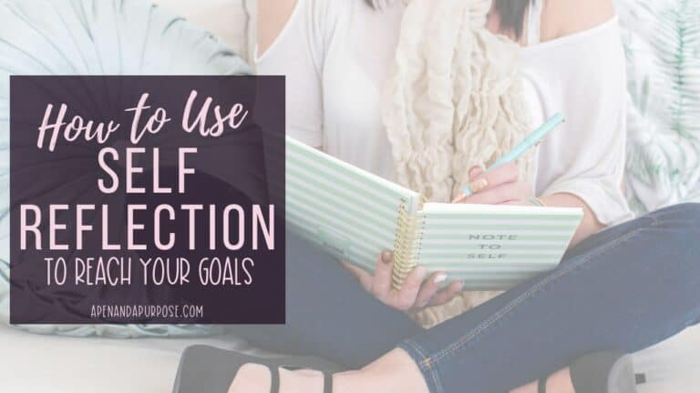 The surprising benefits of using self reflection to reach your goals