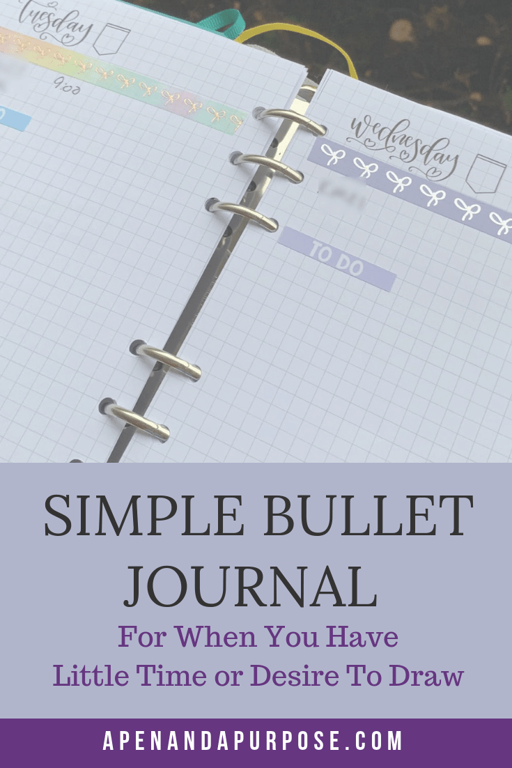 Create a simple bullet journal. Create a bullet journal when you don't have time. Create a bullet journal when you don't like to draw.