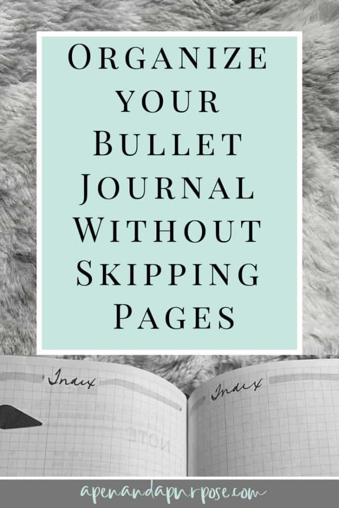 Use threading in your bullet journal to organize your bullet journal without skipping pages.