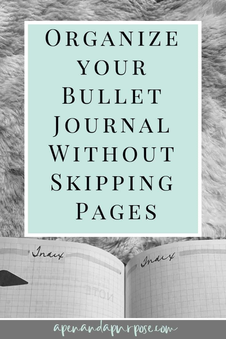 My Favorite Bullet Journal Hack For Organizing Your Journal:  Threading