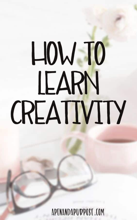 How to learn creativity