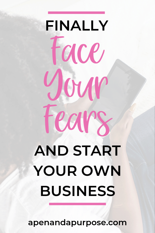 When starting your own business fear is an incredible barrier!  You worry you'll pick the wrong niche or your stuff won't be good enough.  What if you don't do it right? What if it isn't perfect?  We've all been there.  Read this post to discover tips and ideas for challenging fear thoughts and move forward in your business.  It is time to start #onlinebusiness #blogging #faceyourfear #perfectionism