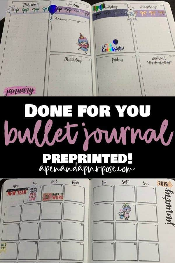 A new done for you preprinted bulllet journal by Scribbles That Matter. Highly recommended. Video included.