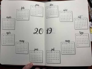 Year at a Glance by Scribbles That Matter, a done for you bullet journal